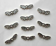 120 x Antique Tibetan Silver Fairy Angel Wings Charm Beads 22mm x 6mm CH7