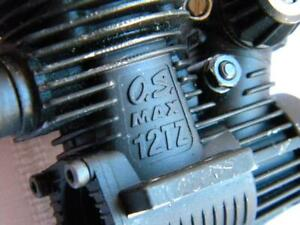 Vintage RC Model Gas Engine~OS MAX 12TZ~1990s~Light Use~Good Compression~Buggy