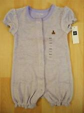 Baby GAP Infant Girl Terry Purple Stripes Soft One Piece Romper 6-12 Months NWT