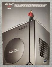 Vintage Nintendo Gamecube Console Poster |2003 Print Ad Official Game Room Decor