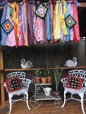 "Shabby Handmade Gypsy Boho Hippie Valance Rag Curtain Window,Wall,Door 26"" X 15"""
