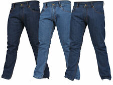 Mens Work Jeans Heavy Duty Denim Pants Straight Fit Trousers All Sizes Available
