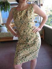 VTG 60s Mad Dress 2p Set Skirt Top Opulent Metallic 3-D Gold Green Brocade S/M