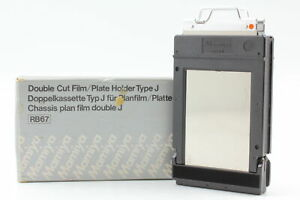 【MINT in BOX】  Mamiya RB67 Double Cut Film Plate Holder Type J from Japan #530