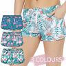 Ladies Womens Summer Shorts Board Beach Cover Up Floral Palm Print Swim Girls