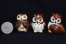 Miniature Ceramic Animals Owl bird Figurine Statue for Decorative Collectibles