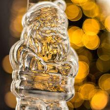 10x Transparent Father Christmas Decoration Ornament gift baubles
