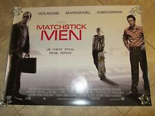 Matchstick Men movie poster - Nicolas Cage, Sam Rockwell, Ridley Scott