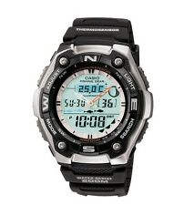 Casio AQW101-1AV Men's Ana-Dgi Thermometer Fishing Data Moon Phase Sports Watch