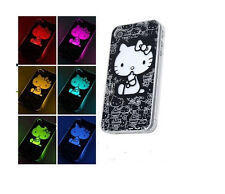 Hello Kitty Sense Flash Light LED Hard Case For iPhone 5/5s --  6 Colors Change