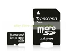 Transcend Micro SD HC 8GB 8G 20MB/SEC Class 10 C10 with Adapter Memory Card New