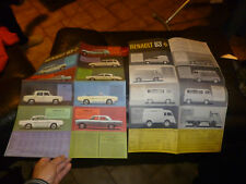 Dépliant RENAULT Gamme 63 R4 Dauphine & Gordini Camionnette Estafette Floride