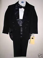 New Infant  Black Tuxedo  w/ Tails Size Small (3-6 mo)