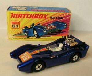 '71 Lesney Matchbox Superfast #61 Blue Shark MINT! ORIGINAL BOX! Made in England