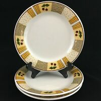 "Set of 3 Salad Plates 7"" by Daily Dining Cherry Royale Stoneware Yellow"