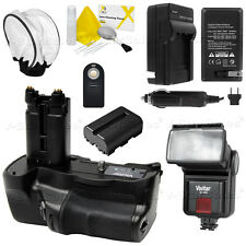Vivitar VG-C77AM Battery Grip + FM500H battery + Slave Flash Kit for Sony A77