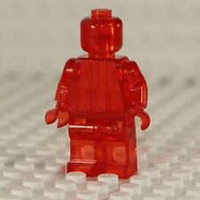 NEW Blank Transparent Red Minifigure Compatible with Lego