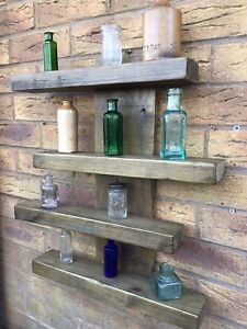 Rustic Unique Wall Shelves , Made From Reclaimed Wood