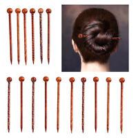 16Pc Printed Wood Hairpin Hair Stick Chopsticks DIY Bridal Hair Jewelry 13cm