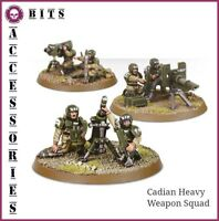 BITS ASTRA MILITARUM CADIAN HEAVY WEAPON SQUAD WARHAMMER 40,000 40K