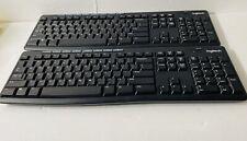 K270 Logitech  Black Wireless Keyboards(2) Black With No Original Packaging.