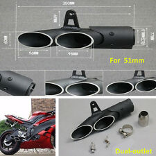 New Style Exhaust Pipe Dual-outlet Tail Pipe For Motorcycle Exhaust Slip 38-51MM