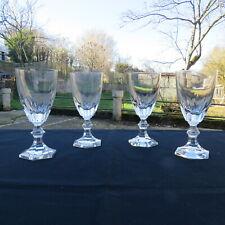 4 Glasses Water Pitcher in Cristal de France Signed Era Daum or Sevres