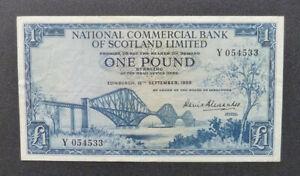 Scotland Banknote - 1959 £1 gVF (P265)