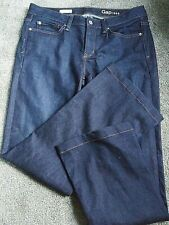 Women's GAP 1969 New Long & Lean Dark Wash Stretch Blue Jeans Size 29 R