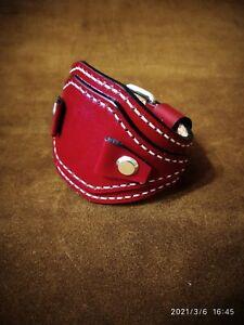 Handmade 18mm 20 мм 22мм   WATCH STRAP red GENUINE LEATHER BAND  biker band