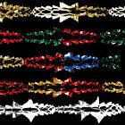 Christmas Foil Ceiling Decoration 6 Section 2.7m Garland - Choose Colour