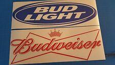 "1 set of Budweiser / Bud Light 18"" Vinyl Cornhole Decals"