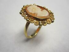 14kt Yellow Gold Carve Cameo ring