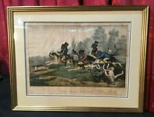 VINTAGE ANTIQUE CURRIER & IVES LITHO PRINT WITH MONKEYS THE JOLLY HUNTERS