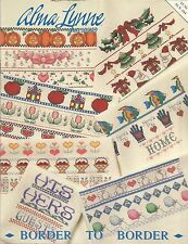 BORDER TO BORDER by Alma Lynne - Cross Stitch Pattern Leaflet Booklet 104