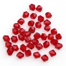 100pcs Faceted Glass Crystal Fingings Loose Bicone Spacer Beads 4mm U Pick