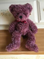Cute Barnaby Teddy Bear by Russ Berrie ~ Plum Colored ~ W/ Tags