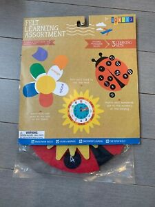 NEW Felt Play Set learning Assortment Clock Ladybug Motor Skills Target PreK