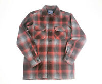 Pendleton Board Shirt Jac 100% Wool Men's XXS- Red Black Grey Plaid