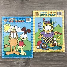 Lot of 2 Preschool Kids Garfield Lets Play & Fun Friends 2002 Paws Bendon Puzzle