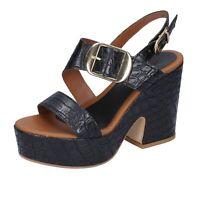 Chaussures Femme SARA COLLECTION 37 Ue Sandales Noir Cuir Synthetique BJ925-37