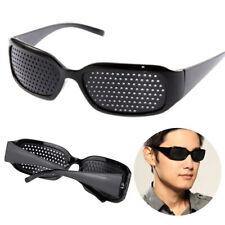Occhiali Nero Stenopeici Pinhole Anti-fatica Visione Cura Vista Eyewear Glasses
