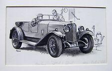 Illustrateurs motoring motor magazine rochet-schneider voiture george lane encre 1930s