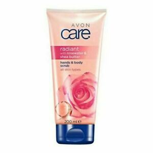 Avon care radiant with rosewater and shea butter hand and body scrub 200ml