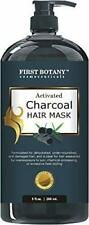 Activated Charcoal Hair Mask, 9 fl. oz. Restorative Hair Mask, Deep Conditioner