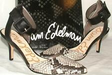 Sam Edelman OKALA Black Snakeskin Ankle Strap Heel sz 6 NEW
