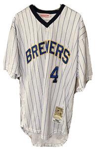 Mitchell & Ness Size 54 XL Paul Molitor Milwaukee Brewers MLB Jersey