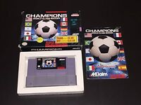 Champions World Class Soccer Super Nintendo Snes Complete CIB Cleaned & Tested