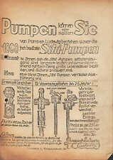 DRESDEN, Werbung 1930, Constantin Ludwig Sihi-Pumpen Filter