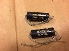 2 NOS Black Beauty .0047 uf 600v Capacitors Vintage Guitar Tone Caps MBT-6D47